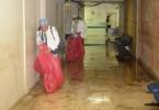 Dos hospitales inundado por lluvias en Santiago