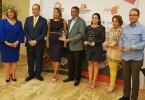 Luisa y Luis Felipe de Aquino junto a Yomaris Gómez, Ramón Paulino, Deyanira Pappaterra y Luis José Chávez, reconocidos por la BTC