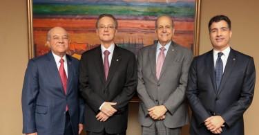 BPD_5243 De izquierda a derecha, los señores Manuel E. Jiménez F., Manuel A. Grullón, Marino D. Espinal y Christopher Paniagua.