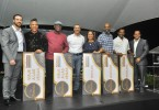 _DSC0130 Gabriel Aspas, Andrés Aspas y Gary Olivo junto a los ganadores Ruben Román, George Phipps Green, Ingrid Arias, Jochy Campusano, Félix Hungría.
