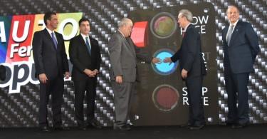 FHC_3223 De izquierda a derecha, los señores Francisco Ramírez, Christopher Paniagua, Enrique Fernández, Manuel A. Grullón y Marino D. Espinal. (1)