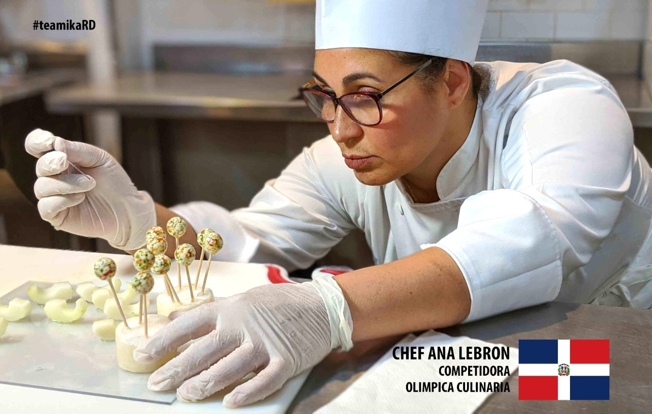 Chef Ana Lebron competidora olimpica culinaria