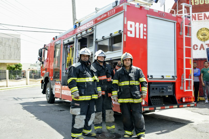 Bomberos del Sistema 911. Foto de Archivo