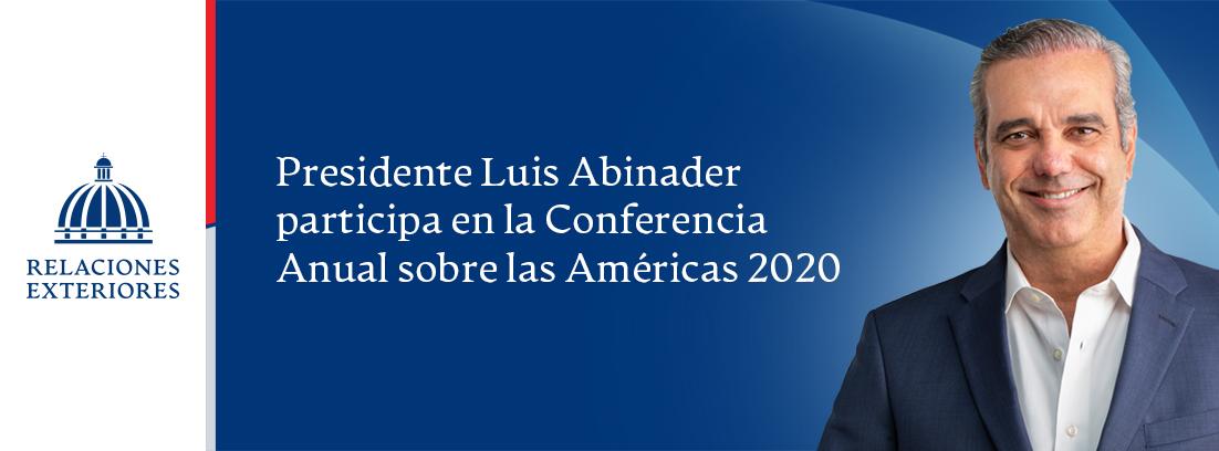 BANNER CONFERENCIA AMERICAS - LUIS ABINADER