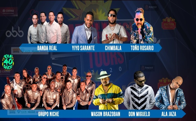 ARTISTAS LATIN MUSIC TOUR 2020